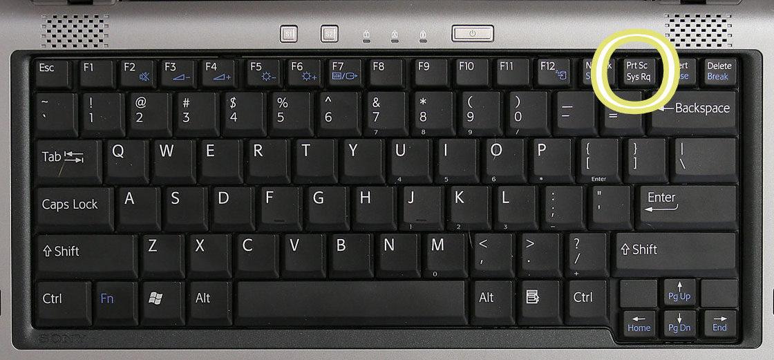 laptop keyboard print key
