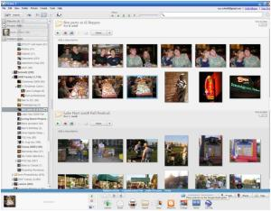 picasa screen of folders