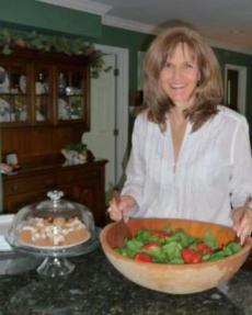 Nan with salad