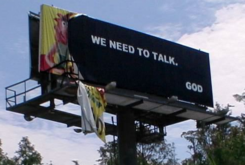 Billboard in Orlando after 2004 hurricanes