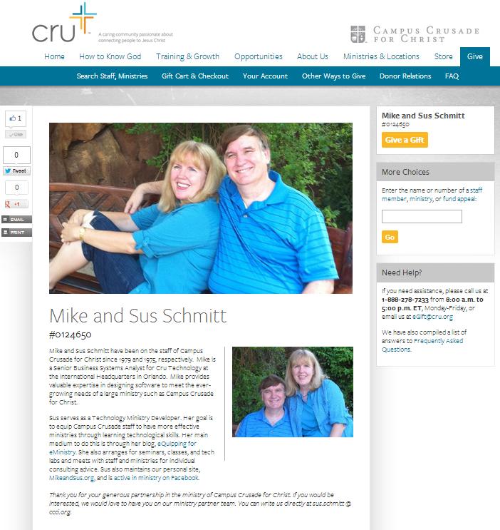 Mike and Sus Schmitt at Cru