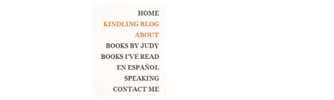 Page links on JudyDouglass.com