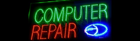 Computer Repair LED sign