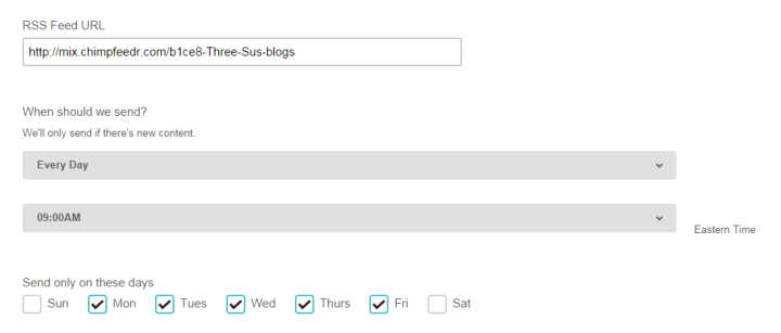 Steps for RSS Feed on MailChimp