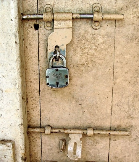 lock on door