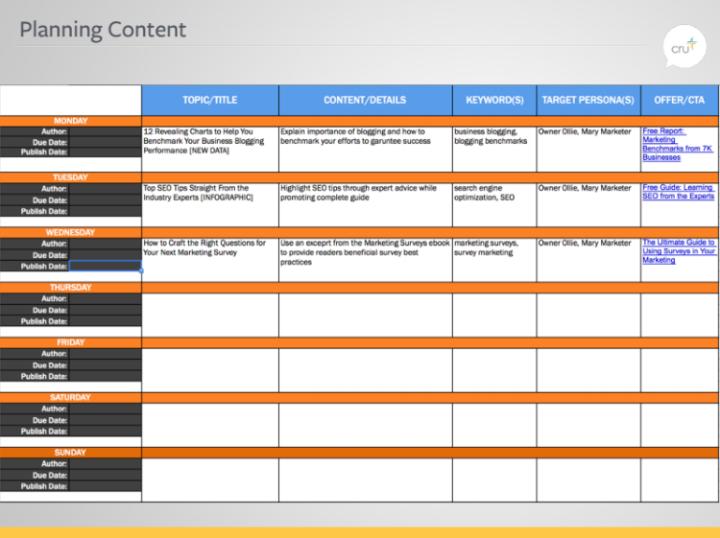 Planning Content 750