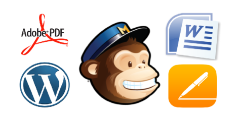 MailChimp and other logos