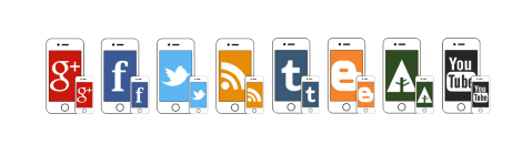 iPhone social icons 470x140