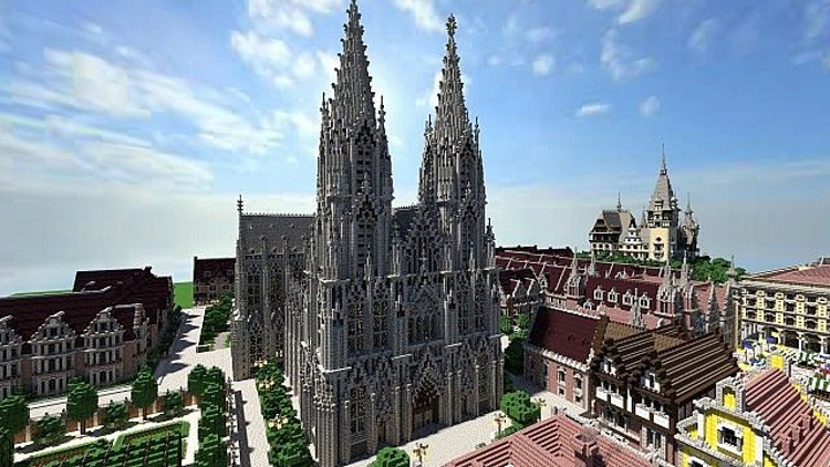 Minecraft-city-cologne-cathedral 750