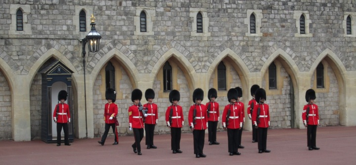 Changing of guard at Windsor castle