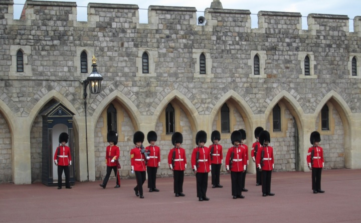 Changing of Guard at Windsor Castle (2014)