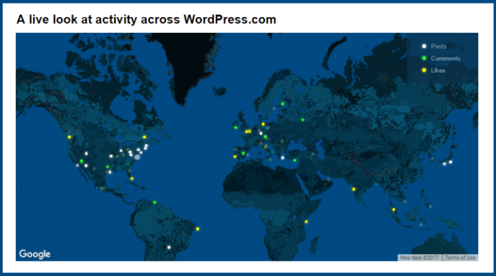 Real-time activity on Wordpress.com